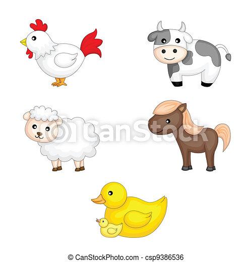 Farm animals - csp9386536