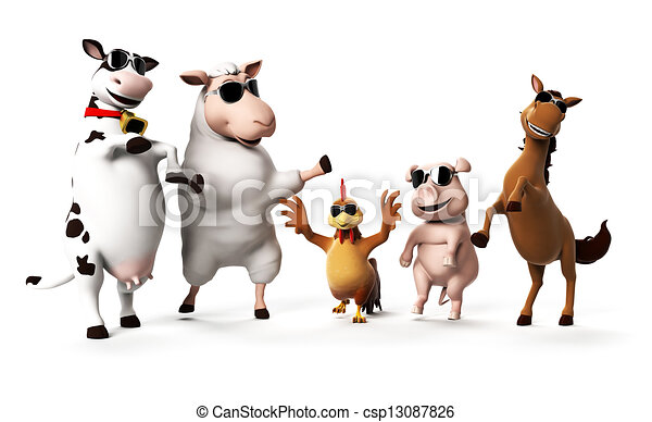 Farm animals - csp13087826