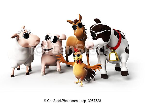 Farm animals - csp13087828