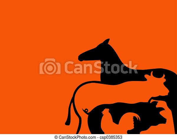 Farm animals - csp0385353