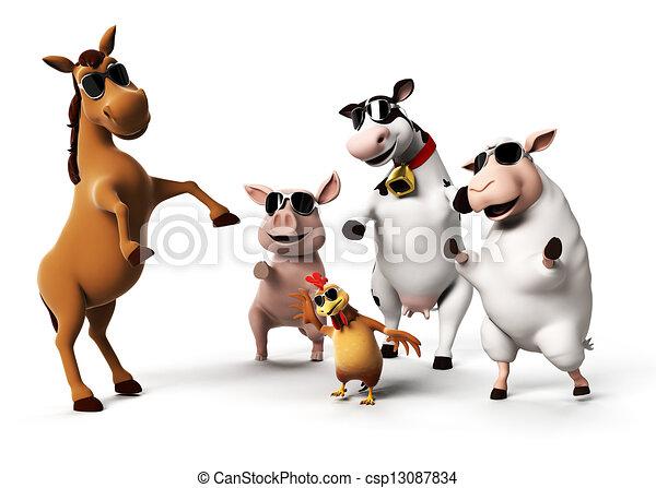 Farm animals - csp13087834