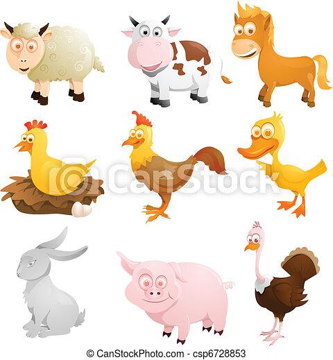 Farm animals - csp6728853
