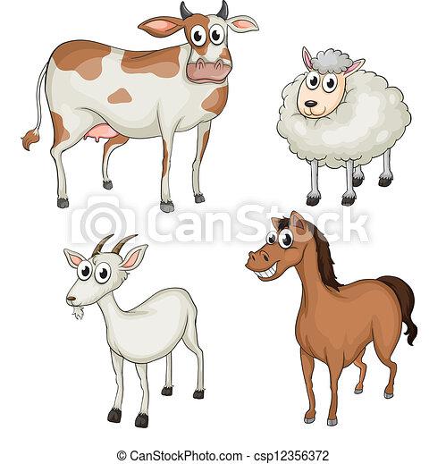 Farm animals - csp12356372
