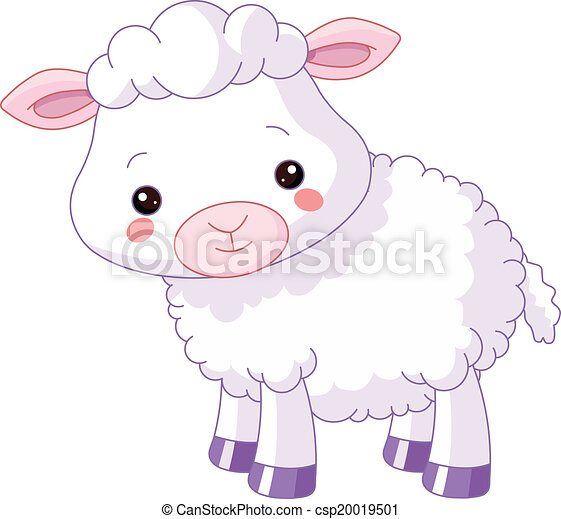 Farm animals. Lamb - csp20019501