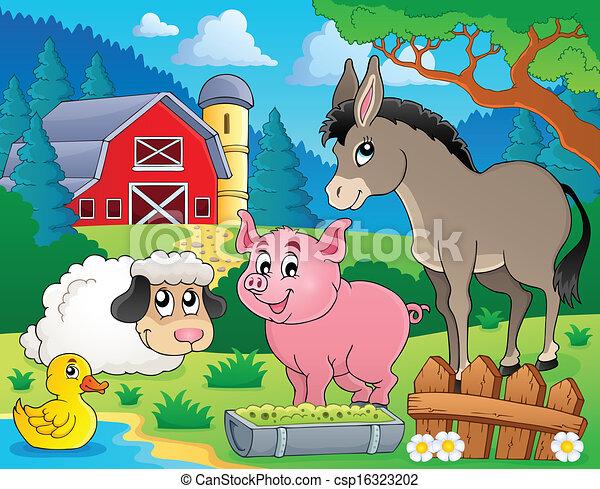Farm animals theme image 6 - csp16323202
