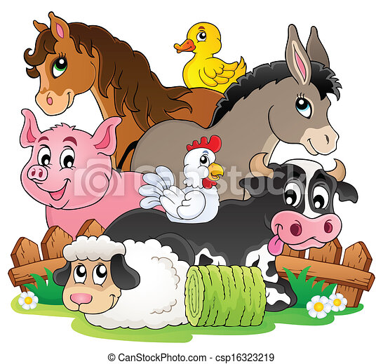 Farm animals topic image 2 - csp16323219
