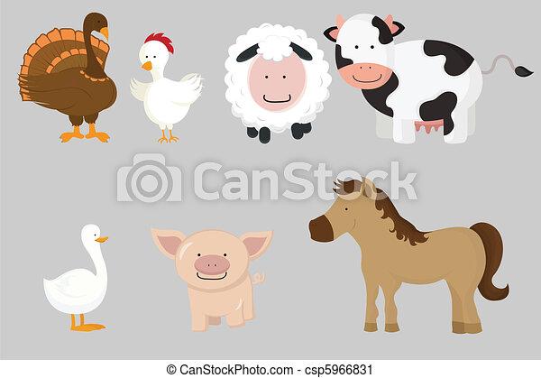 Farm animals - csp5966831