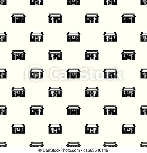 Farm asia house pattern seamless vector - csp63540149