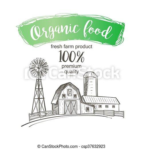 Farm barn fence - csp37632923