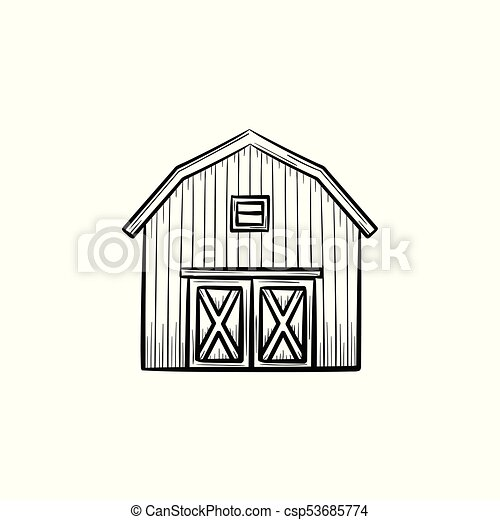 farm barn clip art. Farm Barn Hand Drawn Sketch Icon. - Csp53685774 Clip Art