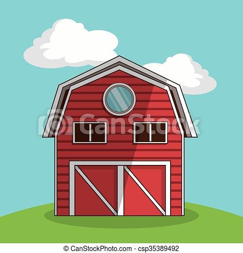farm barn clip art. Farm Barn, Vector Illustration Barn Clip Art