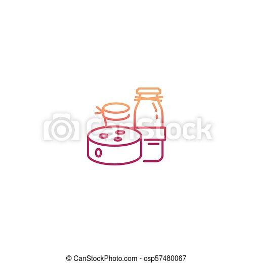 Farm breakfast vector concept - csp57480067