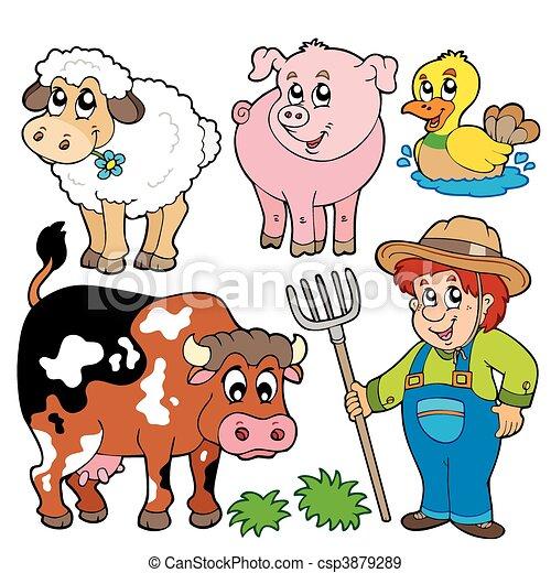 Farm cartoons collection - csp3879289