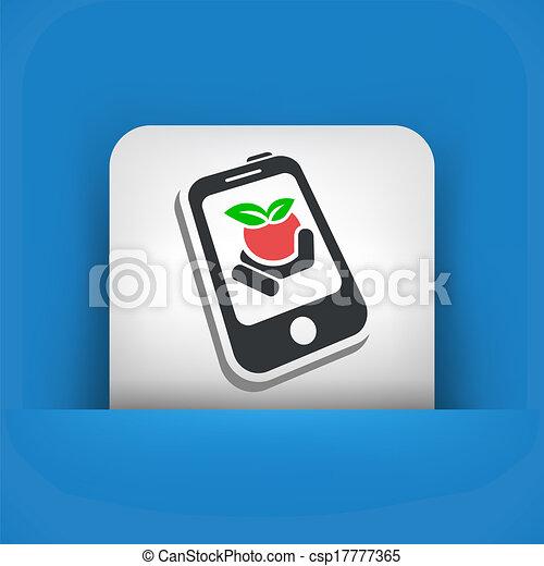 Farm contact icon - csp17777365