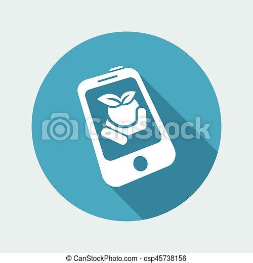 Farm contact icon - csp45738156
