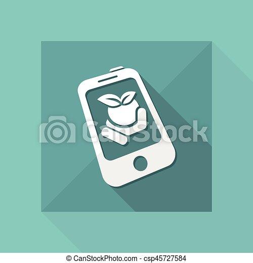 Farm contact icon - csp45727584