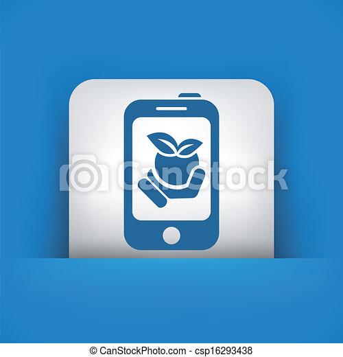 Farm contact icon - csp16293438