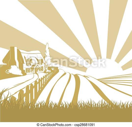 Farm field landscape - csp28681091