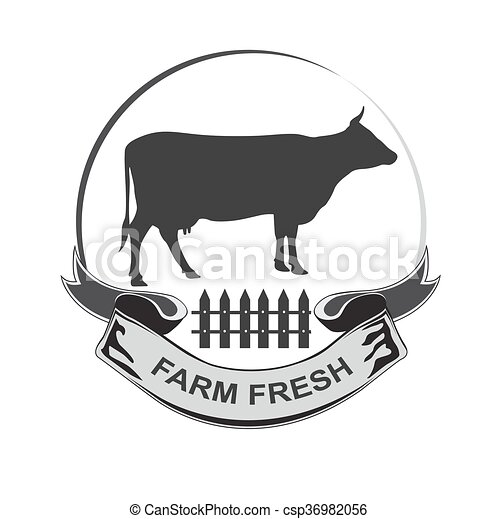 farm fresh, dairy, milk, beef - csp36982056