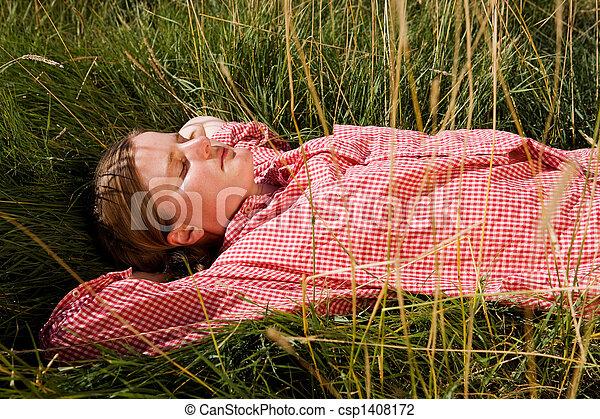 Farm Girl - csp1408172