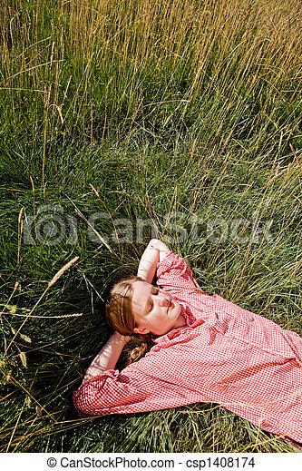 Farm Girl - csp1408174