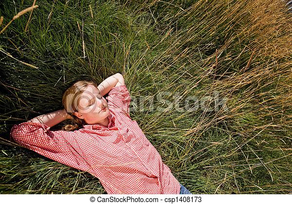 Farm Girl - csp1408173