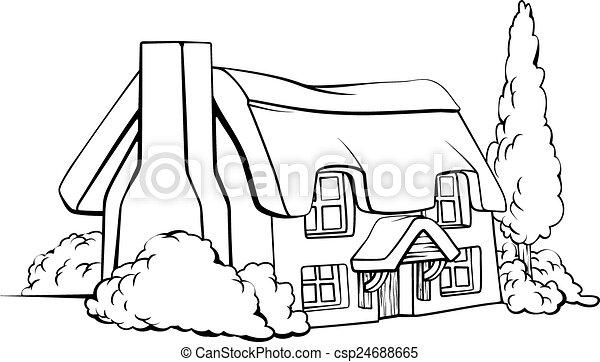 Farmhouse Clipart Black And White  Farmhouse Clipart Black And White