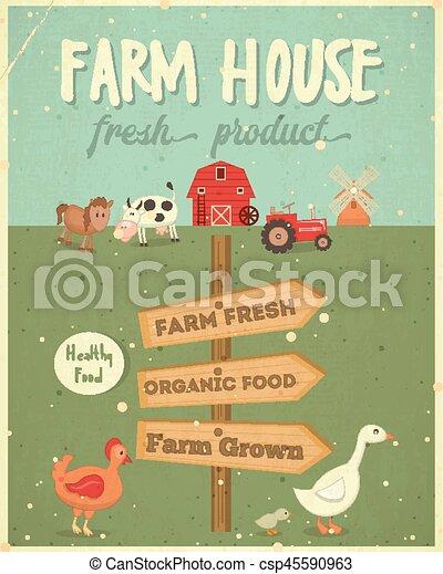 Farm House Poster - csp45590963