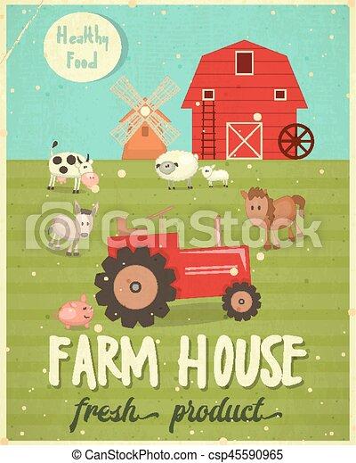Farm House Poster - csp45590965