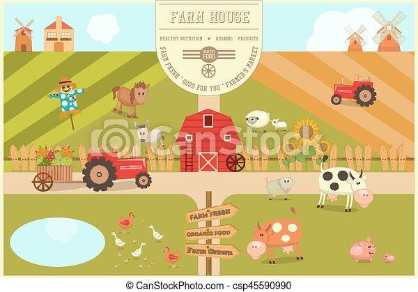 Farm House Poster - csp45590990