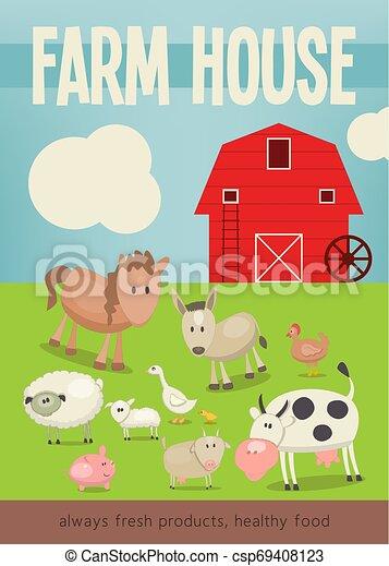 Farm House Poster - csp69408123