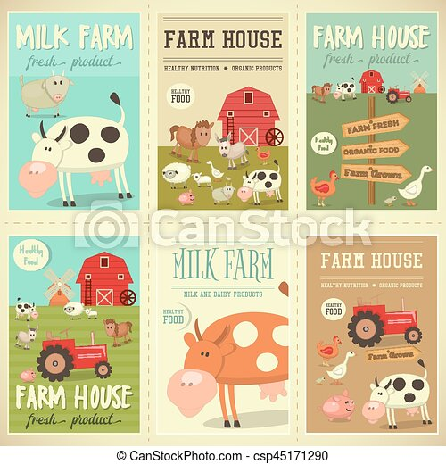 Farm House Posters - csp45171290