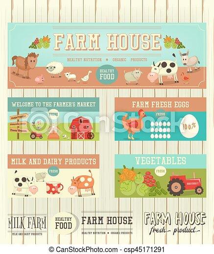Farm House Posters - csp45171291