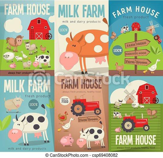Farm House Posters - csp69408082