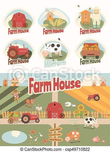 Farm House Set - csp49710822