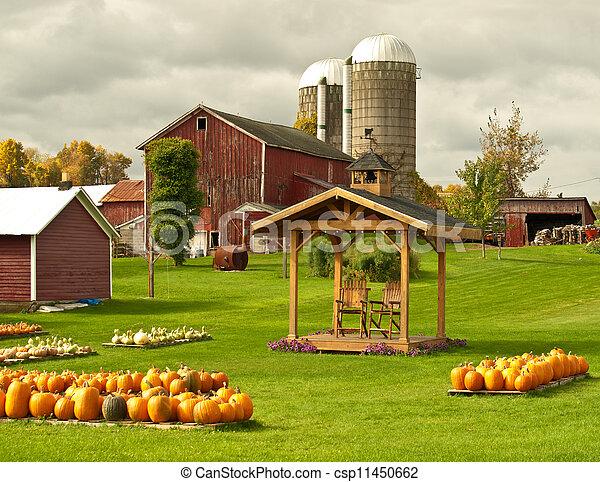 farm in autumn - csp11450662