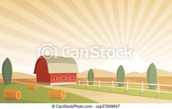 Farm Landscape - csp37609847
