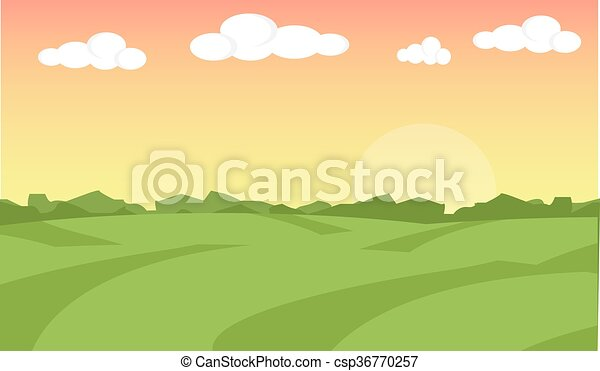 Farm Field Illustration