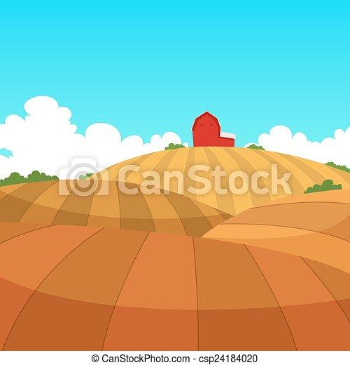 Farm Landscape - csp24184020
