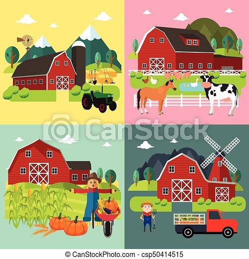 Farm Life Cliparts - csp50414515