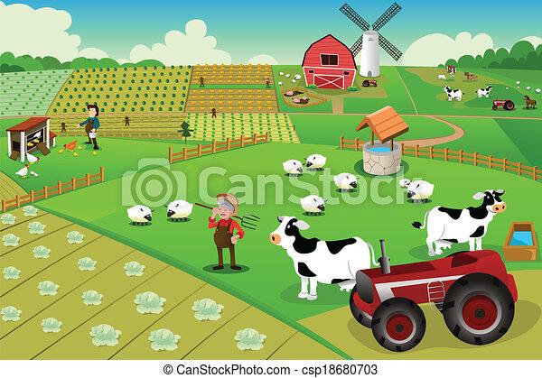Farm life - csp18680703