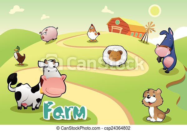 Farm life - csp24364802