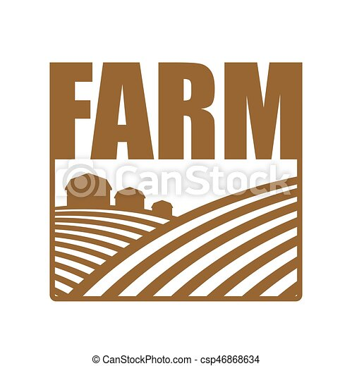 Farm Logo Agriculture Sign Arable Land And Lands Vector
