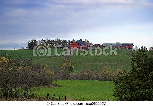 Farm on a Hill - csp0622027
