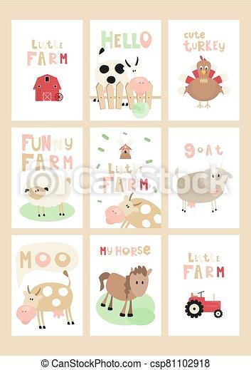 Farm Posters Set - csp81102918