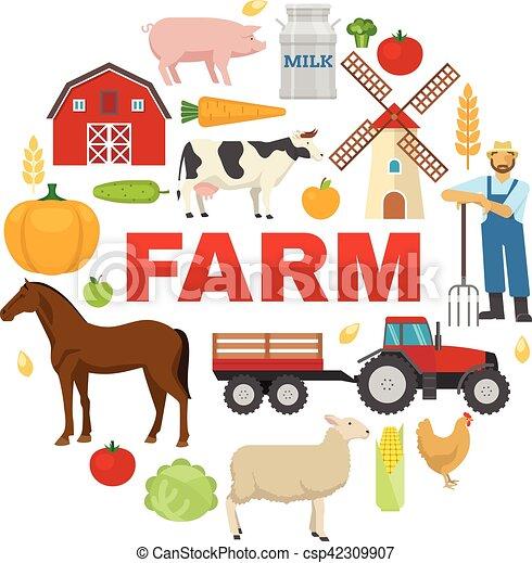 Farm Round Design - csp42309907