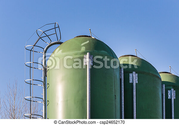 Farm silos for fish farming - csp24652170