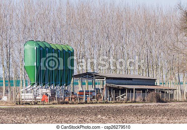 farm silos for fish farming - csp26279510