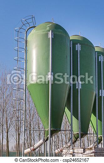 Farm silos for fish farming - csp24652167