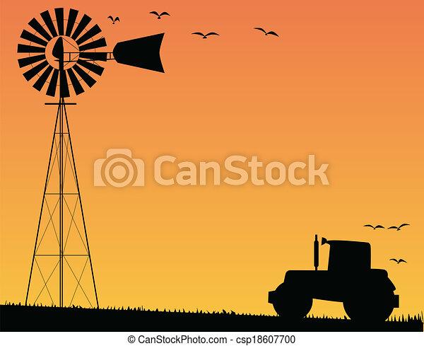 Farm Sunset - csp18607700